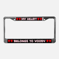 My Heart: Woody (#002) License Plate Frame