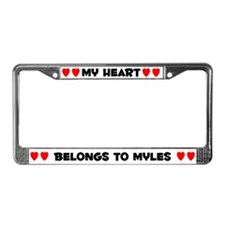 My Heart: Myles (#004) License Plate Frame
