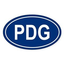 PDG Oval Decal