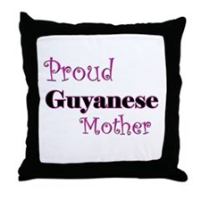 Proud Guyanese Mother Throw Pillow