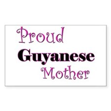 Proud Guyanese Mother Rectangle Decal