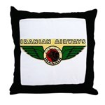 Iranian Airways Throw Pillow