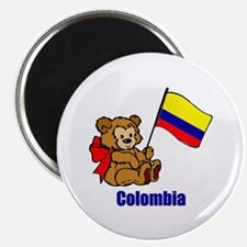 "Colombia Teddy Bear 2.25"" Magnet (10 pack)"
