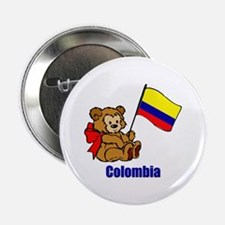 "Colombia Teddy Bear 2.25"" Button (10 pack)"