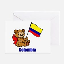 Colombia Teddy Bear Greeting Card