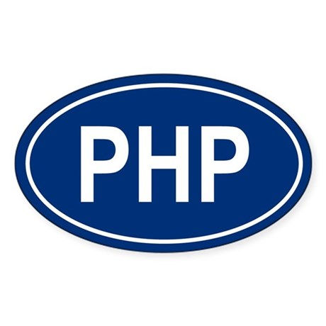PHP Oval Sticker