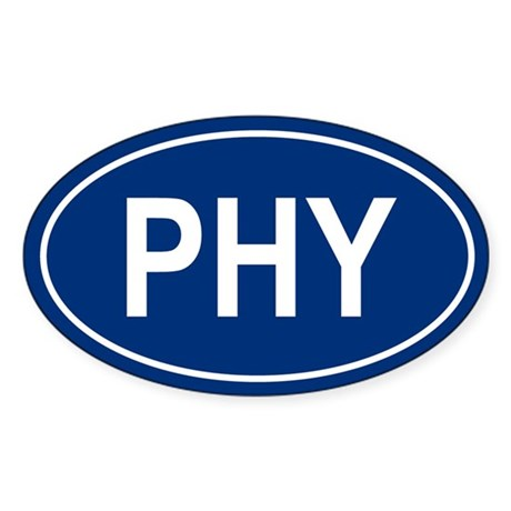 PHY Oval Sticker