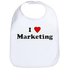 I Love Marketing Bib