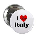 I Love Italy for Italian Lovers Button