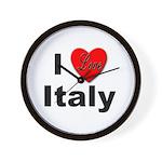 I Love Italy for Italian Lovers Wall Clock