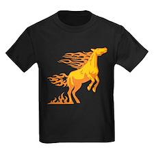 Orange Horse Flames T