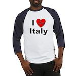 I Love Italy for Italian Lovers Baseball Jersey