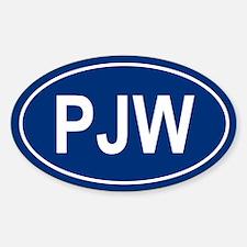 PJW Oval Decal
