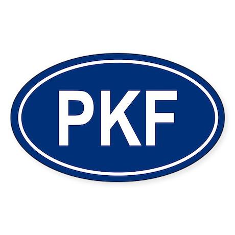 PKF Oval Sticker
