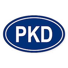 PKD Oval Decal