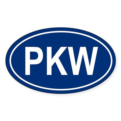 PKW Oval Sticker