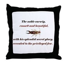 Earwig Glory Throw Pillow