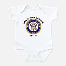 USS South Dakota BB-57 Infant Bodysuit