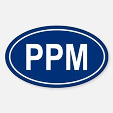 PPM Oval Bumper Stickers