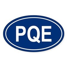 PQE Oval Decal