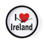 I Love Ireland for Irish Lovers Wall Clock