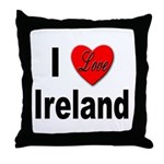 I Love Ireland for Irish Lovers Throw Pillow