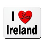 I Love Ireland for Irish Lovers Mousepad