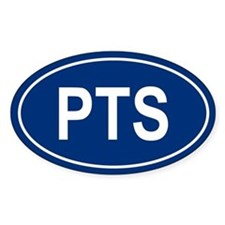 PTS Oval Bumper Stickers