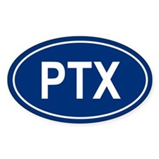 PTX Oval Bumper Stickers