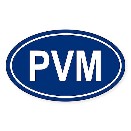 PVM Oval Sticker