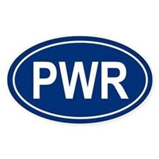 PWR Oval Bumper Stickers