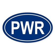 PWR Oval Decal