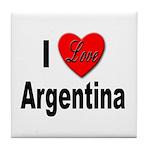 I Love Argentina Tile Coaster