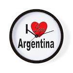 I Love Argentina Wall Clock
