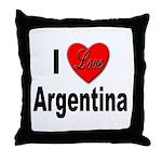 I Love Argentina Throw Pillow