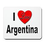 I Love Argentina Mousepad