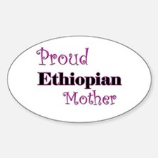 Proud Ethiopian Mother Oval Decal