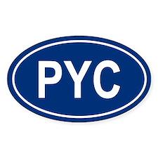 PYC Oval Decal