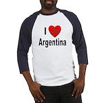 I Love Argentina (Front) Baseball Jersey