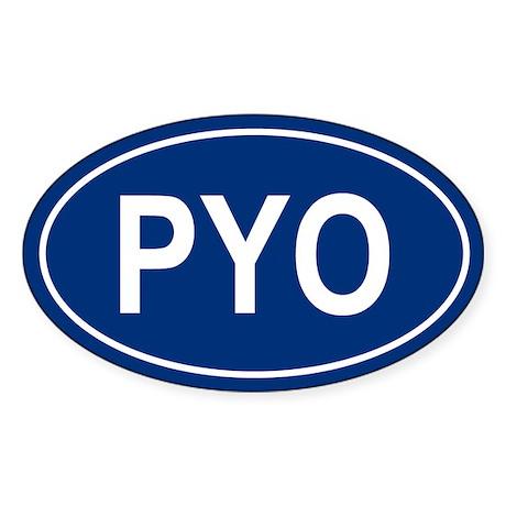 PYO Oval Sticker