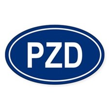 3-PZD Oval Decal