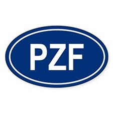 3-PZF Oval Decal