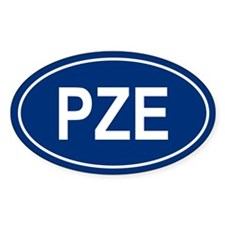 3-PZE Oval Decal