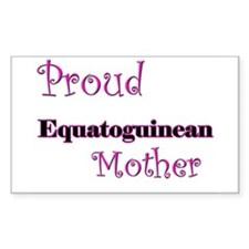 Proud Equatoguinean Mother Rectangle Decal