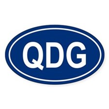 QDG Oval Decal