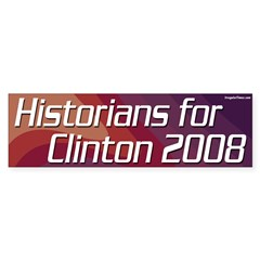 Historians for Clinton 2008 bumper sticker
