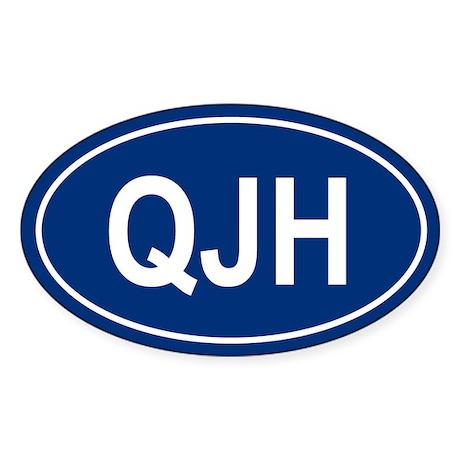 QJH Oval Sticker
