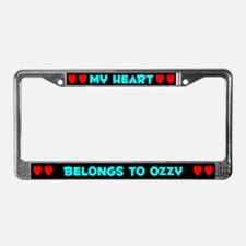 My Heart: Ozzy (#003) License Plate Frame