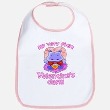 First Valentine's Day Hippo Bib