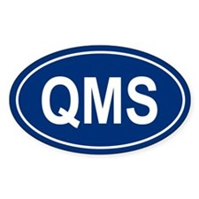 QMS Oval Decal